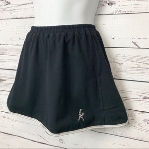 BALLE DE MATCH | black tennis skirt / white trim M